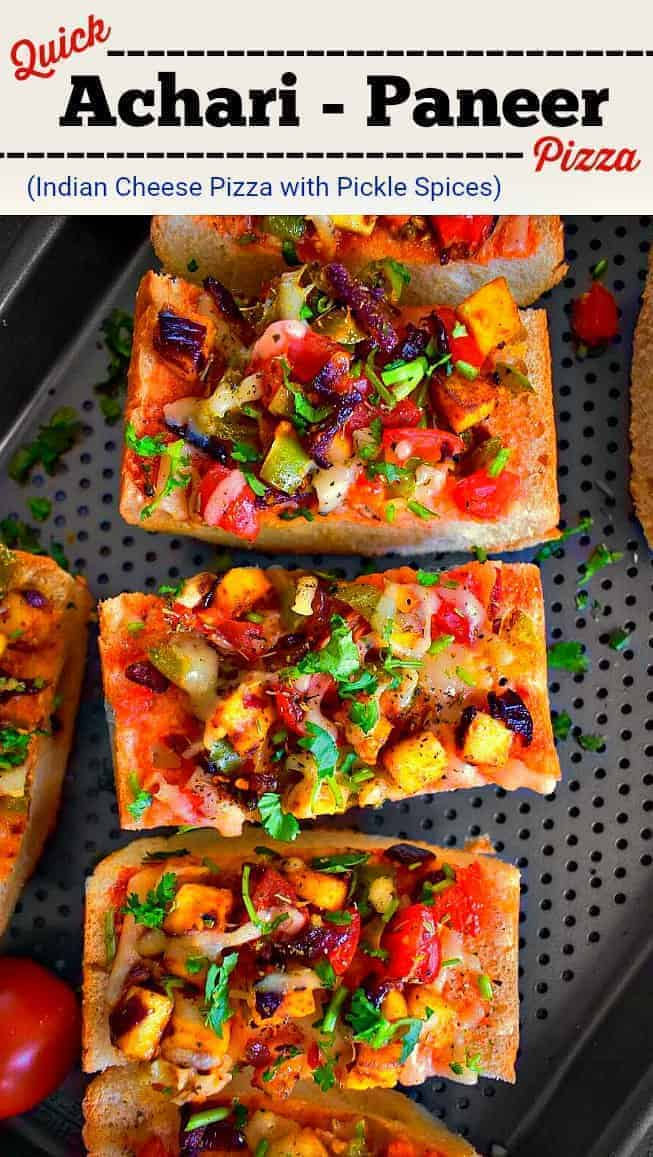 Quick Achari Paneer Pizza: #pizza #indian #achari #paneer