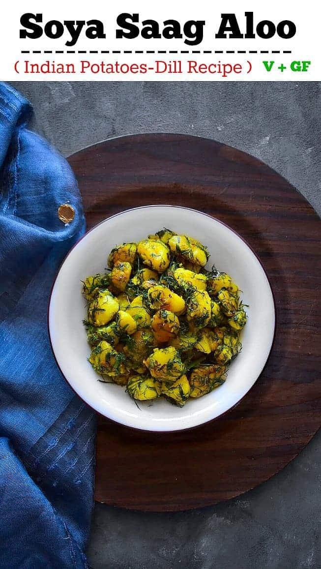 Soya Saag Aloo (Indian Potatoes Dill Leaves Recipe): #potatoes #dill #christmasrecipe #indianrecipe