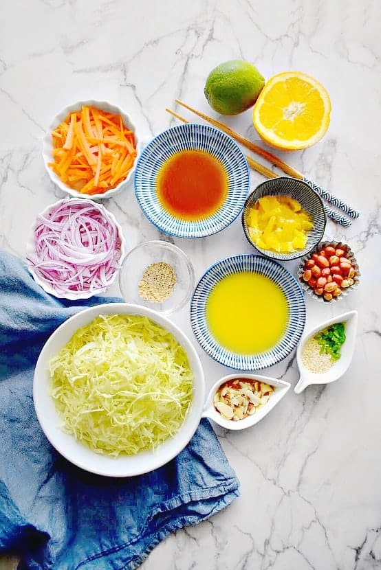 chinese cabbage salad ingredients