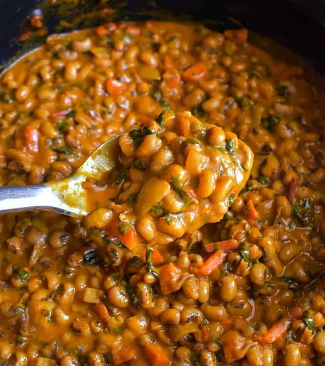 creamy black eyed peas in coconut milk. This recipe is vegan and glutenfree