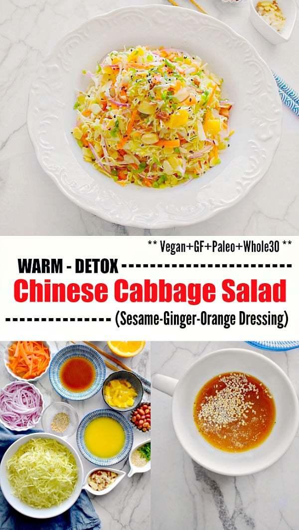 Warm Detox Chinese Cabbage Salad: #cabbage #detox #salad #chinesenewyear #chinese