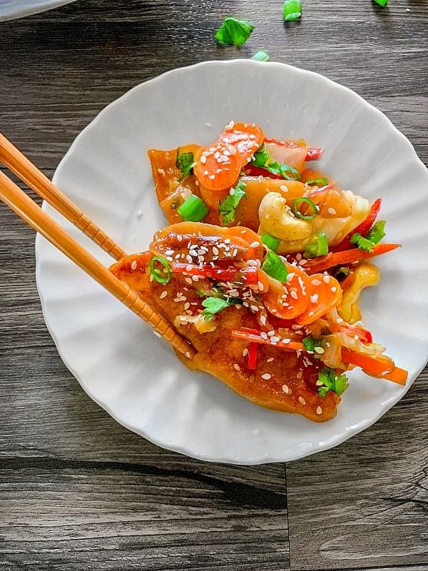 frozen potsticker stir fry
