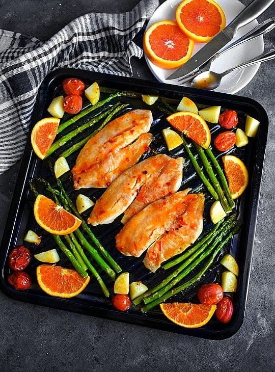 glutenfree tilapia sheet pan recipe