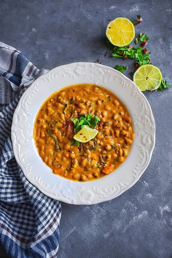 Instant Pot Black Eyed Peas Curry Recipe