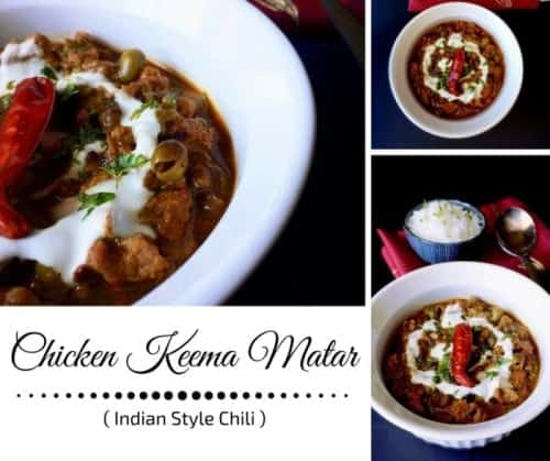 Chicken Keema Matar - Indian Style Chili
