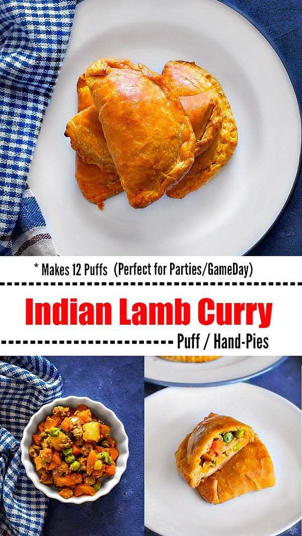 Baked Indian Lamb Curry Puffs: #puff #lambcurry #curry #currypuff #gameday