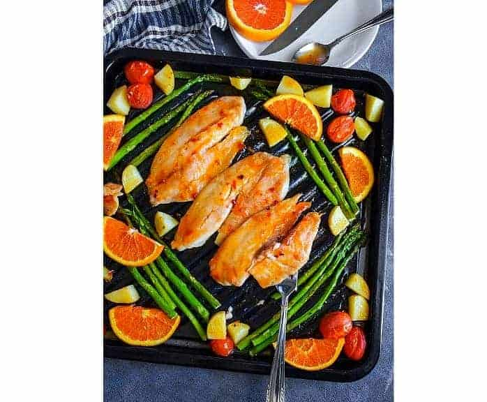 Sheet Pan Orange-Ginger Tilapia
