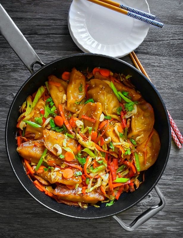 stir fry chicken potsticker