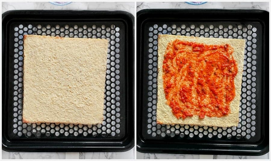cauliflower crust pizza process
