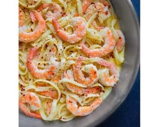 White Wine Shrimp Pasta