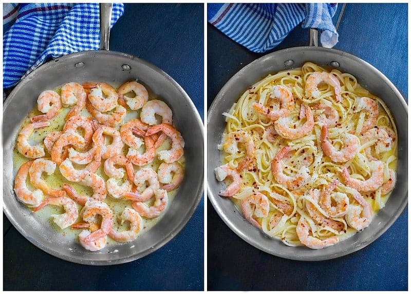 how to make lemon garlic shrimp fettuccini recipe