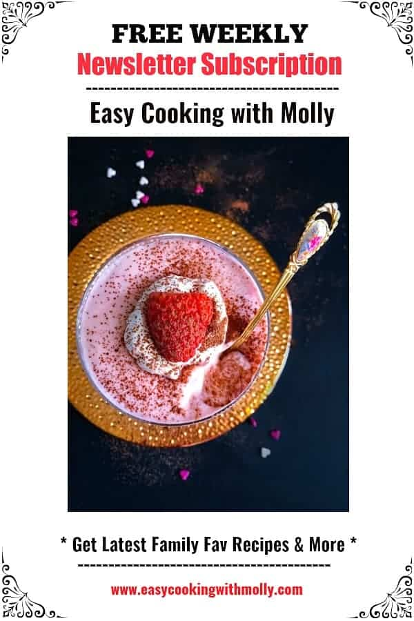subscribe to free weekly newsletter for easycookingwithmolly