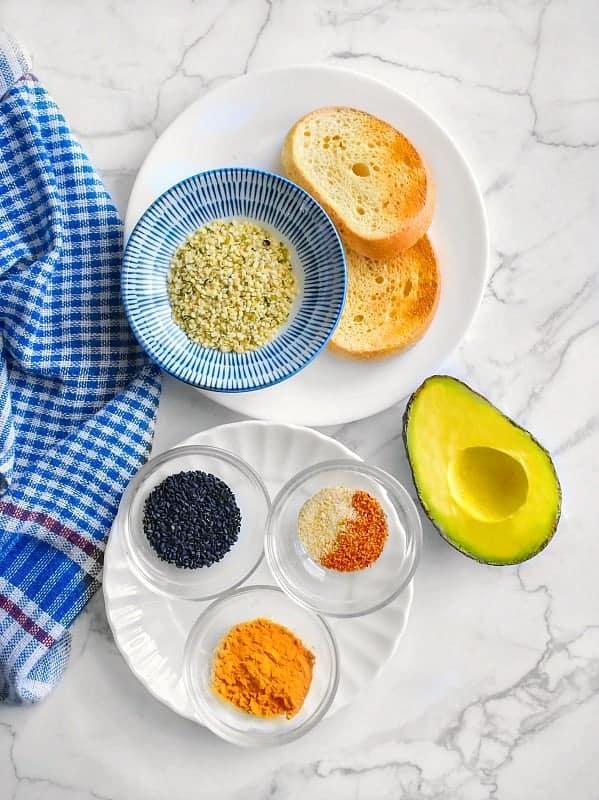 vegan avocado toast recipe ingredients