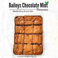 Quick Baileys Chocolate Mint Brownies (using Box Mix)
