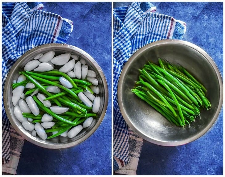 blanching green beans process picture
