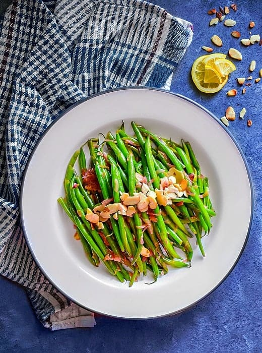 Easy green beans Almonds recipe
