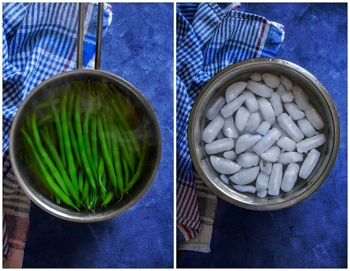 how to blanch green beans process