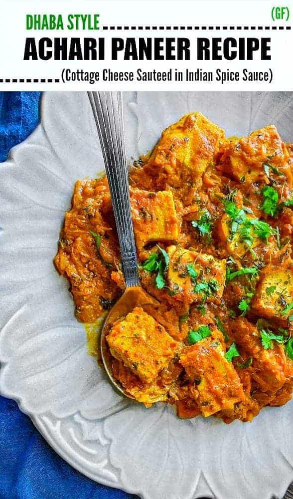 Restaurant Style Achari Paneer Masala Recipe
