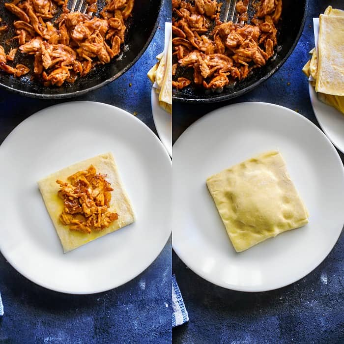 indian chicken puff process