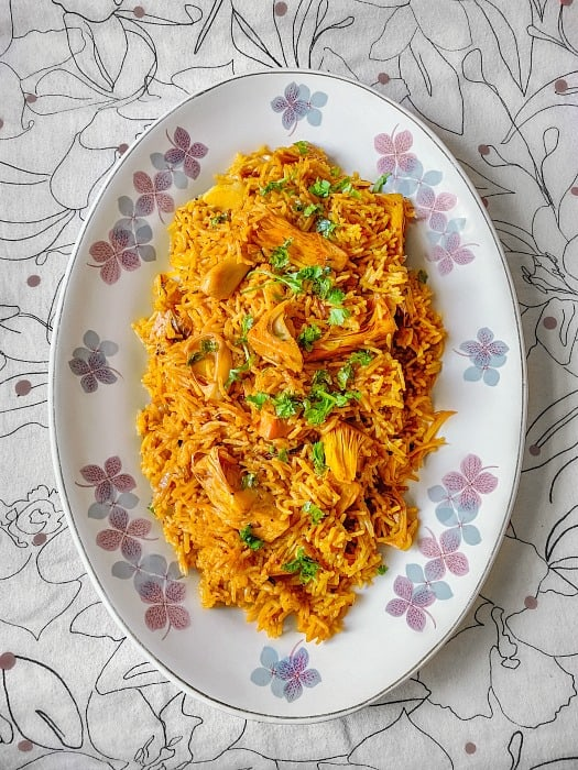 quick kathal biryani recipe