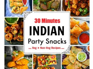 30 Minutes Indian Party Snacks: chicken pakora, aloo tikki, paneer pizza, curry puff
