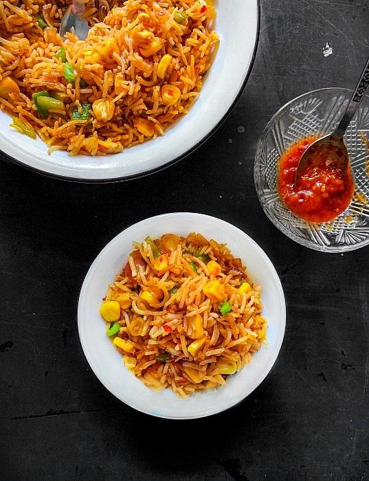 corn fried rice recipe-1