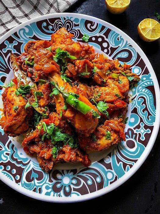 Indian ghee roast chicken