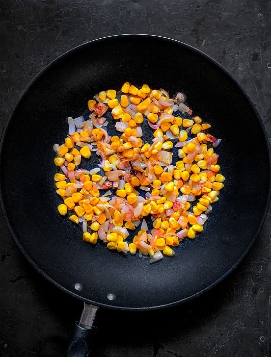 sweet corn fried rice recipe step 1