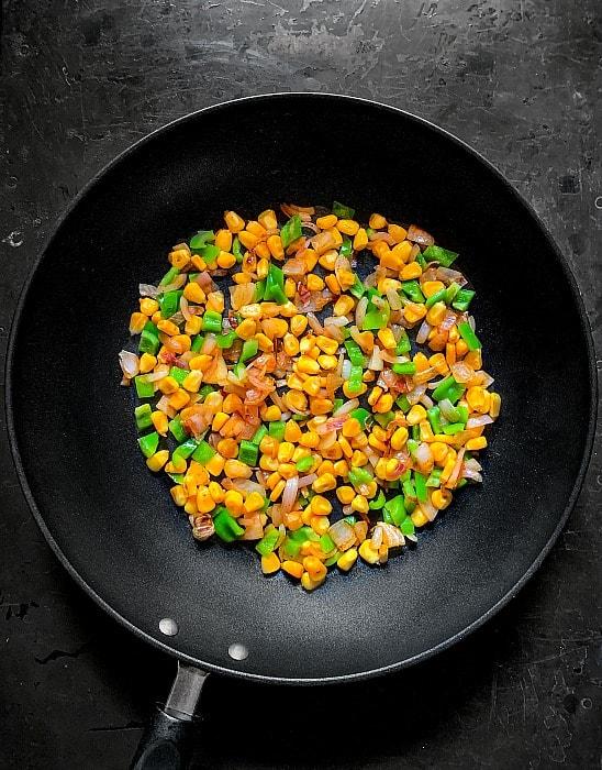 sweet corn fried rice recipe step 2