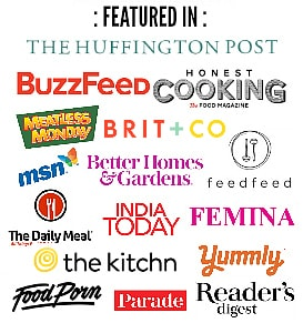 ALL places where Easy cooking with molly is featured like buzzfeed, huffington post, readers digest, the kitchn