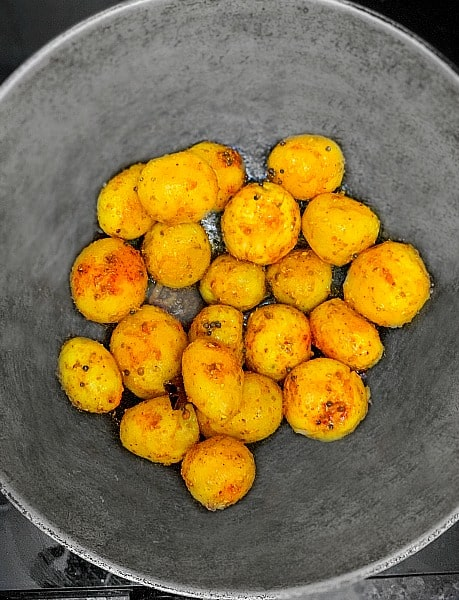 South Indian Potato Recipe Process 1