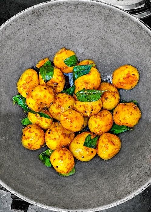 South Indian Potato Recipe Process 2