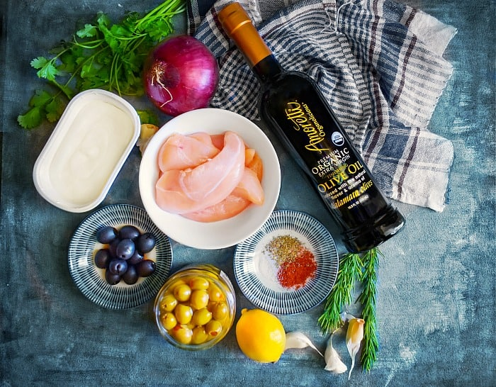 Mediterranean Chicken with Olives Recipe Ingredients