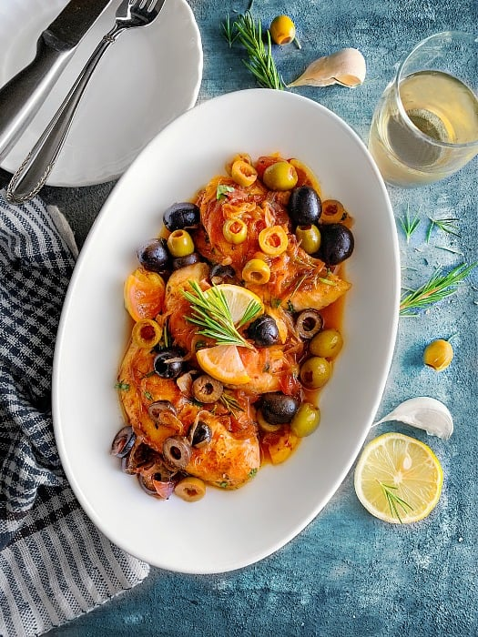 Mediterranean Chicken with Olives Recipe-1