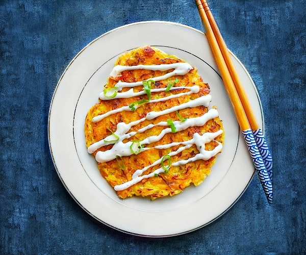 Okonomiyaki Japanese Cabbage Pancake recipe