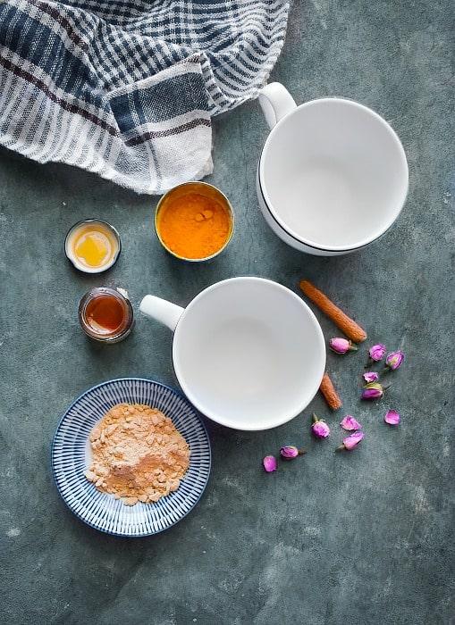 Ashwagandha Turmeric Moon Milk recipe ingredients