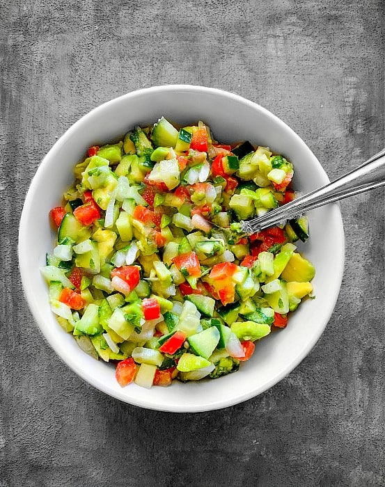 How to Make Cucumber Avocado Salad