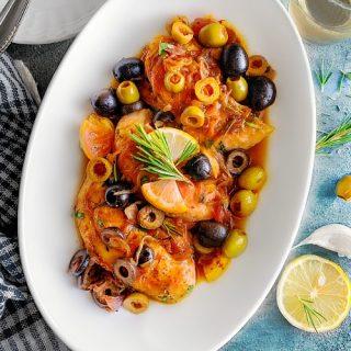 Mediterranean Chicken with Olives Recipe