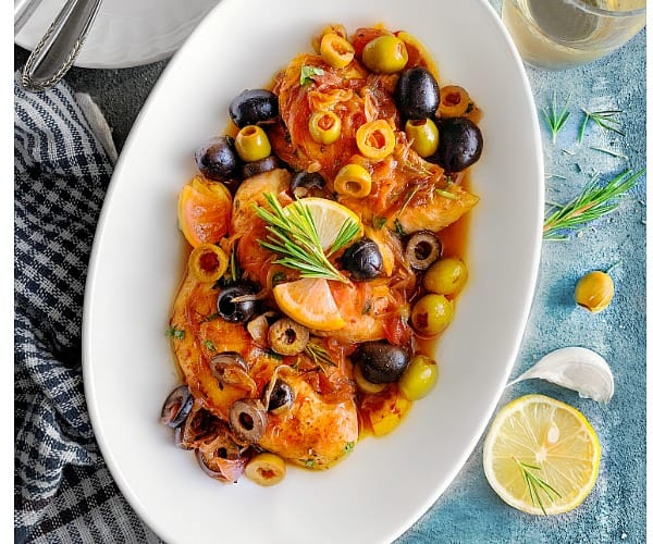 Mediterranean Chicken with Olives Recipe