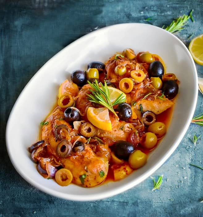 Quick Easy Mediterranean Chicken with Olives