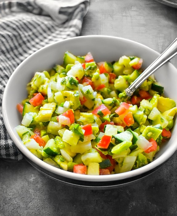 Simple Cucumber Avocado Salad