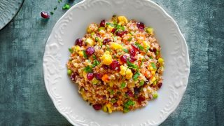 Curried Quinoa Salad with Cranberries