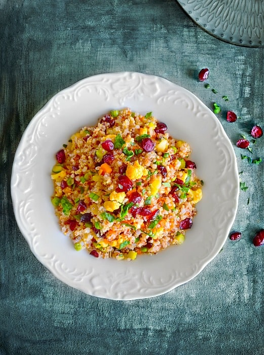 Curried Quinoa Salad with Cranberries recipe