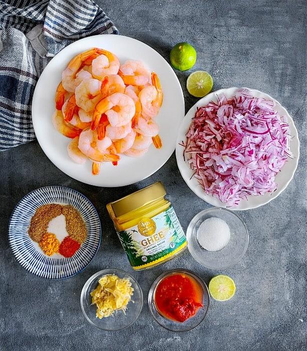 Shrimp Ghee Roast ingredients