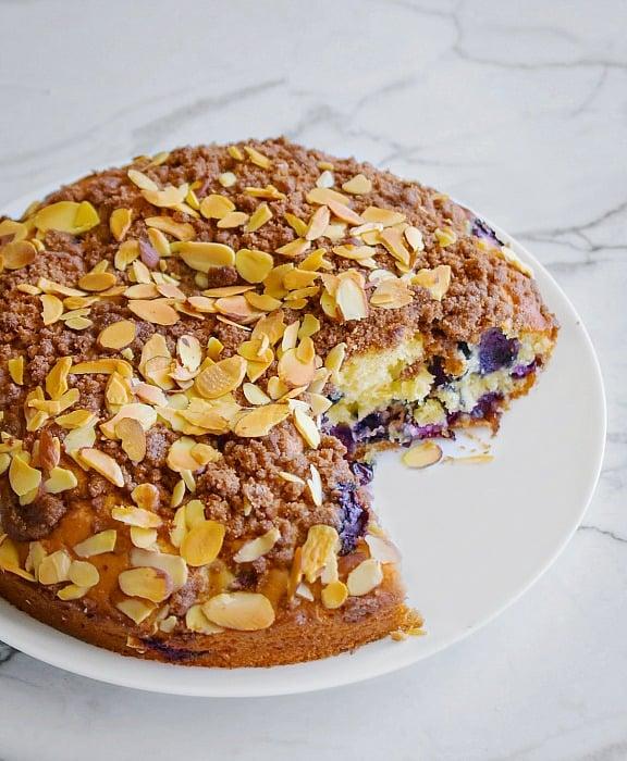 Moist Blueberry Coffee Cake recipe