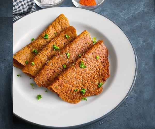 Savory Buckwheat Crepes - Indian Kuttu Cheela / Kuttu Chilla
