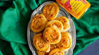 Butter Chicken Pinwheels - Puff Pastry Part Snack #diwalisnacks