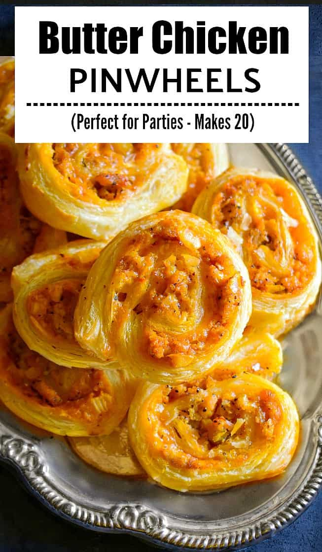 Butter Chicken Pinwheels