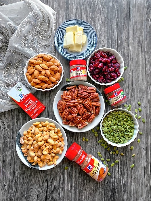 keto roasted mixed nuts ingredients