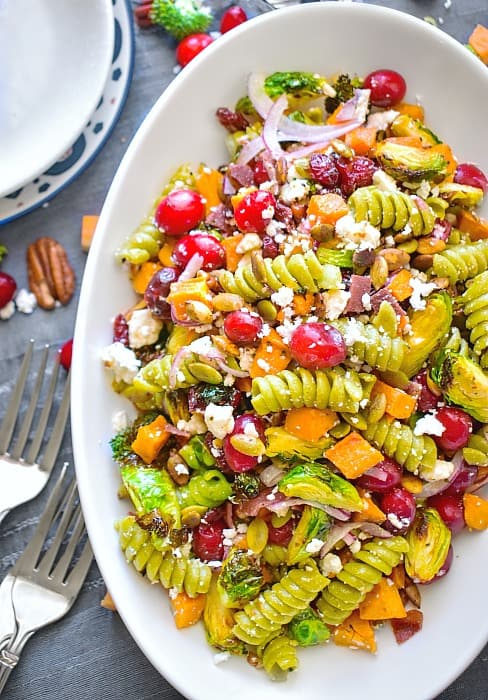 autumn crunch pasta salad recipe
